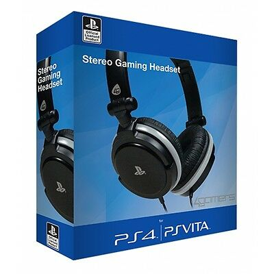 4Gamers Stereo Gaming Headset Dual Format  PS4 & PS Vita Brand New