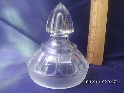 Antique Vintage Glass Apothecary Store Jar Lid Only for parts