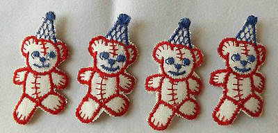 Lot 4 Cloth New Patches Dancing Teddy Bears Hats Little Similar To Grateful Dead