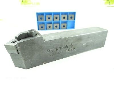 """Carboloy Msdnn-85-5 Indexable Tool Holder 1"""" X 1-1/4"""" Shank+ 10 Carbide Inserts"""