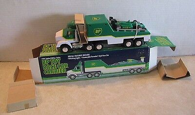 BP Oil And Gas 1994 BP Toy Formula 1 Race Car on Carrier Transporter w/ Box