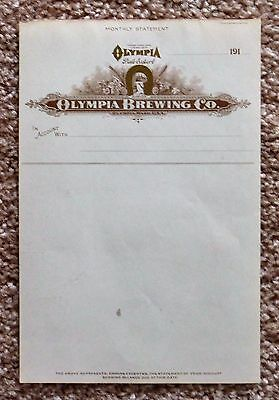 Olympia Brewing Co, Monthly Statement Letterhead, Pre-Pro
