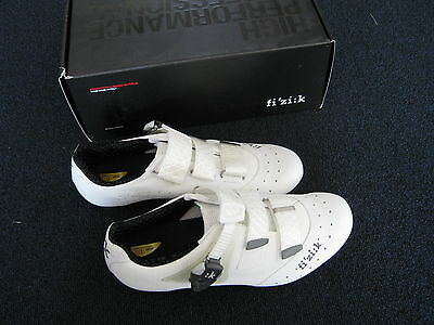 Fizik R1 Uomo racing carbon shoes white with kangaroo leather
