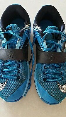 Nike KD basketball shoes Size US9 Clearwater Blue & Black