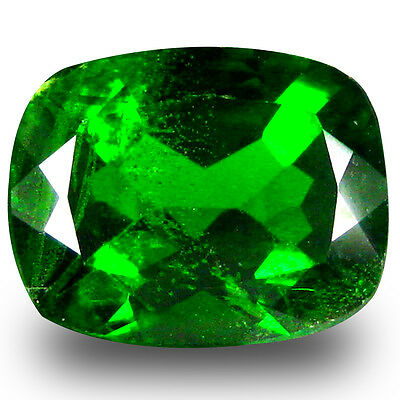 3.04 ct  Excellent Cushion Shape (10 x 8 mm) Green Chrome Diopside Gemstone
