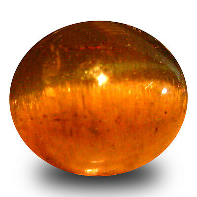 3.08 ct AAA  Oval Cabochon Shape (8 x 7 mm) Honey Brown Green Apatite Cat's Eye