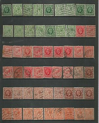 King George V 1912-36 Large Selection Of Used/unsed Definitives Ref 267