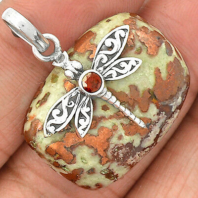 13g Dragonfly - Rarest Copper Agate 925 Sterling Silver Pendant Jewelry SP217846