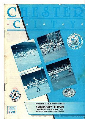 1990-1991 Chester v Grimsby Town