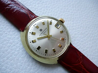 """Elegant Vintage """"Max Bill"""" Style JUNGHANS Men's dress watch from 1970's years!"""