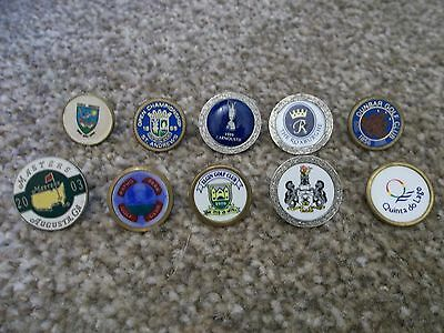 10 Vintage Golf Ball Markers Collectable
