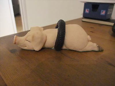 "Fabulous Hand Made David Corbridge ""Piggin Tired"" Figurine 1993"