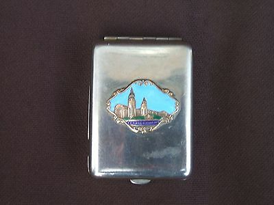 Old Metal / Enamel North East Coast Exhibition Newcastle 1929 Match Book Case