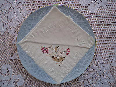 Very Unusual 8 Inch Plate With A Representation Of A Knapkin In The Design