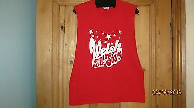 girls casual red sleeveless top age 9-11 years