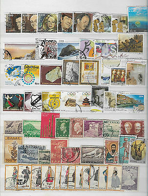 Greece 260 all different used stamps 1920s to 2014