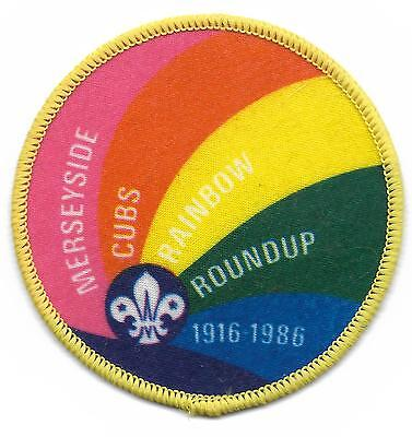 Merseyside Cubs Roundup 1916-1986 Scout Badge