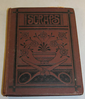 Antique Edwardian Scrap Book Containing Greeting Cards Etc