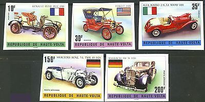 Antique Cars Imperf Proofs From Upper Volta # 362//C207 MNH