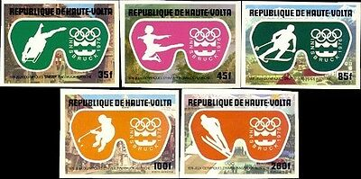 Winter Olympics Imperf Proofs From Upper Volta MNH