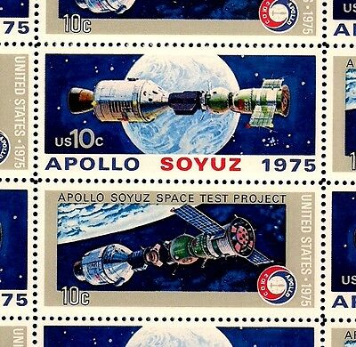 1975 - APOLLO-SOYUS MISSION - #1569-70 Mint -MNH- Sheet of 24 Postage Stamps