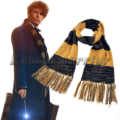 Fantastic Beasts&Where to Find Them Scarf Newt Scamander Cosplay Costume Knitted