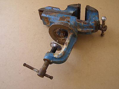 Vintage Portable Clamp on Bench Vice - Portable Hobby Vice ~ 60mm Jaws