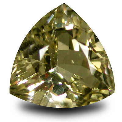 1.20 ct AAA Terrific Trillion Shape (7 x 7 mm) Yellow Heliodor Beryl Gemstone