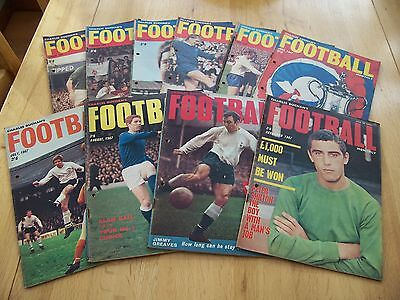 10 Issues 1967 Of Charles Buchan's Football Monthly