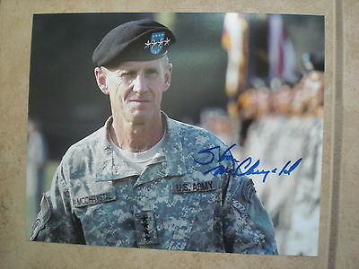 General Stanley Mcchrystal Signed Photo 8X10 #3 Proof