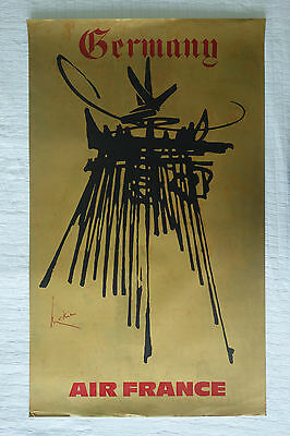 Poster Plakat - Airline Air France - Germany - Georges Mathieu 1967 Travel