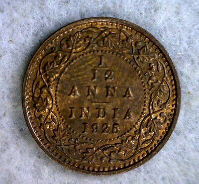 BRITISH INDIA 1/12 ANNA 1925 ABOUT UNCIRCULATED (stock# 0352)