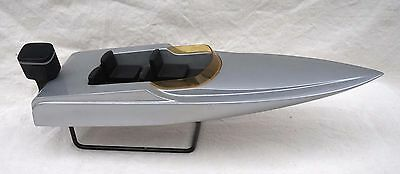 Vintage Sculpture Model Boat Runabout Outboard motor Fishing Skiing