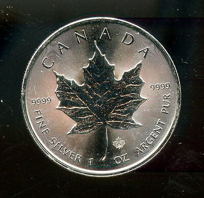 2014 Canada 1 ounce .9999 Silver Maple Leaf free shipping L3