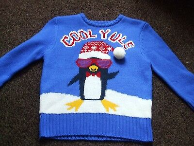 Boys Wool Christmas Jumper Size 3-4 Years