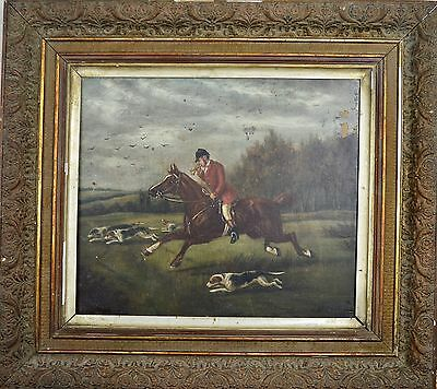 J Howard. 19th Century Oil On Canvas Titled Finding The Fox. Dated 1890.