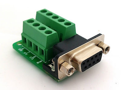 DB9 DSUB 9-pin Female Adapter RS-232 Breakout Board Connector D6: £4.75 FREE p&p