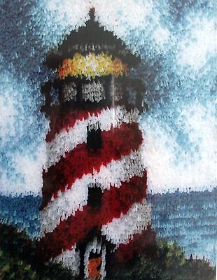 "Caron Lighthouse  Latch Hook Rug  Kit ""sailor's Beacon"