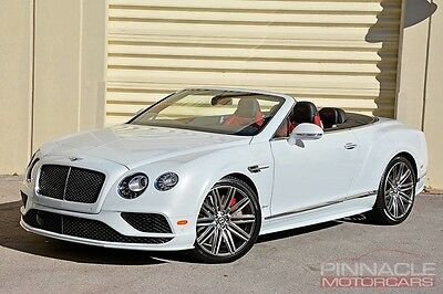 2016 Bentley Continental GT  2016 Bentley Continental GT SPEED Convertible! $282MSRP! White/Red!
