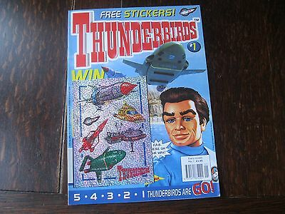 Thunderbirds #1 First Issue c/w Free Gift, Stickers.