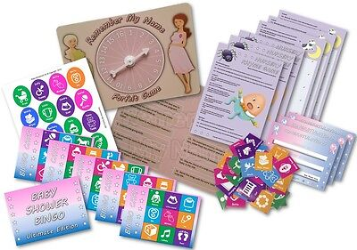 Baby Shower Party Game  ~  3 GAMES  ~  Unisex  ~  up to 20 players