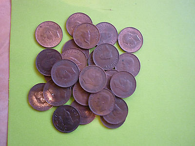 GT BRITAIN - 25 x GOOD COLLECTABLE GEORGE VI FARTHINGS - 1937 - 1952