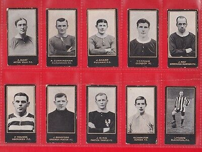 Smith's Cigarette cards, footballers, Yellow frame 1914. 19 cards