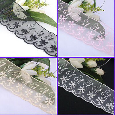 """2 5/8"""" wide embroidered lace trimming wedding appliques Lots mix 10Y Upick R1037"""