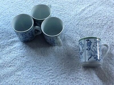 Villeroy And Boch Blue And Green Switch 3 Small Mugs X 4