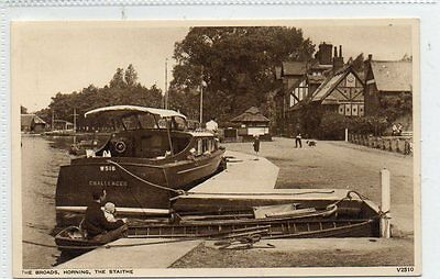 """""""""""postcard The Broads,the Staithe,horning,norfolk"""""""""""