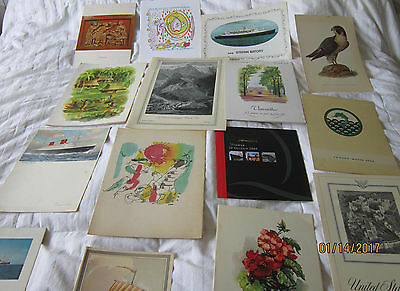 Nice Group Of 15 Ocean Liner Menus-All Different- Cunard-French-Italia +