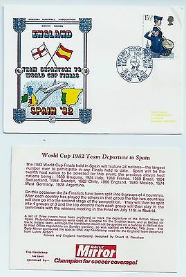 England Football team Departure to Spain for 1982 World Cup Dawn Postal cover +