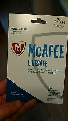 McAFEE Livesafe Ultimate protection, multiple devices. IPad n Samsung protection