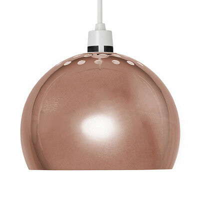 Copper Retro Arco Style Dome Ceiling Pendant Light Shade Lampshade Shades NEW